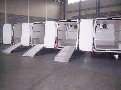Fleet of refrigerated vans ready to deliver your lamb roast